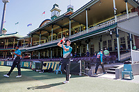 13th March 2020, Sydney Cricket Ground, Sydney, Australia;  Trent Boult of the Blackcaps warms up. International One Day Cricket. Australia versus New Zealand Blackcaps, Chappell–Hadlee Trophy, Game 1.