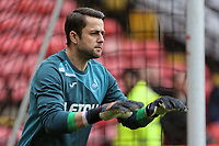 Lukasz Fabianski of Swansea City warms up prior to the game during the Premier League match between Watford and Swansea City at the Vicarage Road, Watford, England, UK. Saturday 30 December 2017