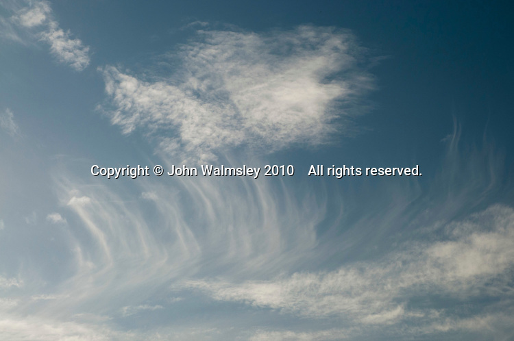 Cirrostratus clouds over southern England in November.