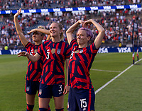 EAST HARTFORD, CT - JULY 5: Megan Rapinoe #15 of the USWNT waves to her family during a game between Mexico and USWNT at Rentschler Field on July 5, 2021 in East Hartford, Connecticut.