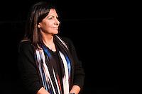 """Anne Hidalgo - JÈrÙme Coumet - Bruno Julliard - Colette Nucci - Norbert Titin-Snaider - NoÎl Corbin - L'inauguration de la salle de spectacle """"Jardin"""" rÈnovÈe du ThÈ'tre 13, Paris, France, le 21/02/2017."""
