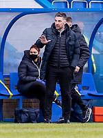 18th April 2021; Stair Park, Stranraer, Dumfries, Scotland; Scottish Cup Football, Stranraer versus Hibernian; Stevie Farrell Manager of Stranraer