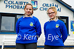 Sisters, Danute and Gaberiele Voveryte just after finishing their Maths Paper 2 in the Community College Castleisland on Monday