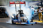 T.J. Zizzo (317) driver for the Peak Performance Dragster team makes a pass during the O'Reilly Auto Parts Spring Nationals at the Royal Purple Raceway in Baytown,Texas.