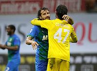 Milano  21-04-2021<br /> Stadio Giuseppe Meazza<br /> Serie A  Tim 2020/21<br /> Milan - Sassuolo<br /> Nella foto:     fine gara                                 <br /> Antonio Saia Kines Milano