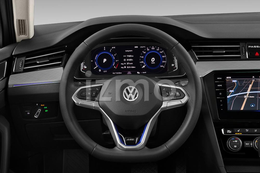 Car pictures of steering wheel view of a 2020 Volkswagen Passat GTE 5 Door Wagon Steering Wheel