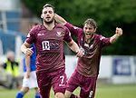 Queen of the South v St Johnstone…18.08.18…  Palmerston    BetFred Cup<br />Drey Wright celebrates his goal with Murray Davidson<br />Picture by Graeme Hart. <br />Copyright Perthshire Picture Agency<br />Tel: 01738 623350  Mobile: 07990 594431