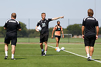 Manager Graham Potter gives instructions to his players train during the Swansea City Training Session at The Fairwood Training Ground, Wales, UK. Tuesday 03 July 2018
