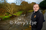 Cllr: Fionnán Fitzgerald standing at the at Shanowen River in Castleisland.