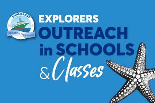 Graphic for Explorers Education Programme outreach in schools and classes