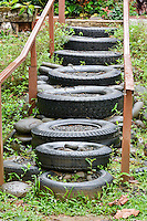 """Stairway of Tires"" by Art Harman"