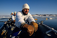 2013 Quebec City, Carnival canoe race on the frozen St. Lawrence River<br /> PHOTO :  Agence Quebec presse