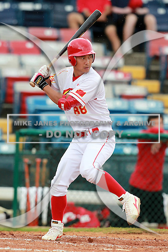 Outfielder Feng Fei (88) of the China National Team during a game vs. the Houston Astros Instructional League team at Holman Stadium in Vero Beach, Florida September 28, 2010.   China is in Florida training for the Asia games which will be played in Guangzhou, China in November.  Photo By Mike Janes/Four Seam Images