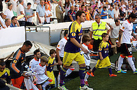 Valencia, Spain. Thursday 19 September 2013<br /> Pictured: Team players enter the stadium.<br /> Re: UEFA Europa League game against Valencia C.F v Swansea City FC, at the Estadio Mestalla, Spain,