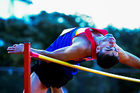Hamish Kerr competes in the men's elite high jump final.  2021 Capital Classic athletics at Newtown Park in Wellington, New Zealand on Saturday, 20 February 2021. Photo: Dave Lintott / lintottphoto.co.nz