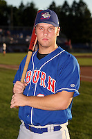 August 28th, 2007:  Chris Haupt of the Auburn Doubledays, Class-A affiliate of the Toronto Blue Jays at Dwyer Stadium in Batavia, NY.  Photo by:  Mike Janes/Four Seam Images