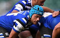 31st August 2020; Recreation Ground, Bath, Somerset, England; English Premiership Rugby, Zach Mercer of Bath prepares for a scrum put in