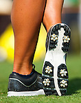 TAOYUAN, TAIWAN - OCTOBER 22: Suzann Pettersen's Nike Golf shoes pictured on the 9th tee during day three of the LPGA Imperial Springs Taiwan Championship at Sunrise Golf Course on October 22, 2011 in Taoyuan, Taiwan. Photo by Victor Fraile / The Power of Sport Images