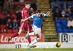 St Johnstone v Aberdeen…13.12.17…  McDiarmid Park…  SPFL<br />Paul Paton loses out to Ryan Christie<br />Picture by Graeme Hart. <br />Copyright Perthshire Picture Agency<br />Tel: 01738 623350  Mobile: 07990 594431