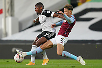 Ivan Cavaleiro of Fulham and Matty Cash of Aston Villa during the Premier League match between Fulham and Aston Villa played behind closed doors due to current government covid-19 guidelines in Sport, played at Craven Cottage, London, England on 28 September 2020. Photo by Andy Rowland.
