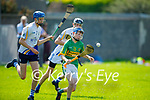 Ivan Conway of Lixnaw controls the sliotar as Conor Kirby of Tralee Parnells gives chase in the Minor hurling championship quarter final.