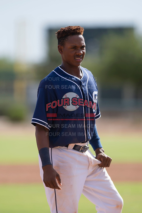 Yeison Santana (48) of the San Diego Padres during an Instructional League game against the Chicago White Sox on September 26, 2017 at Camelback Ranch in Glendale, Arizona. (Zachary Lucy/Four Seam Images)