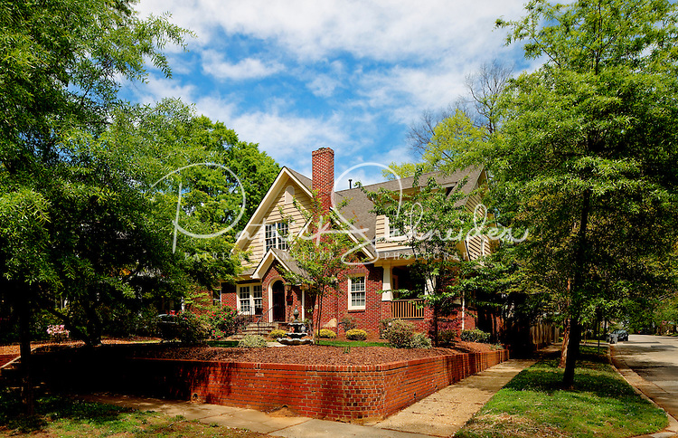 Part of a photography collection showing the variety of architectural styles of homes, apartments and condos in metropolitan Charlotte, NC. Image taken in Dilworth Historic District, Charlotte, NC.