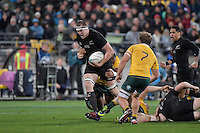All Blacks' Brodie Retallick in action during the All Blacks v Wallabies. The Rugby Championship & Bledisloe Cup at Westpac Stadium, Wellington, New Zealand on Saturday 27 August 2016.<br /> Photo by Masanori Udagawa. <br /> www.photowellington.photoshelter.com.