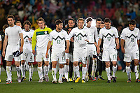 Slovenia players applaud their fans after the 2-2 draw against USA.