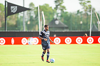 LAKE BUENA VISTA, FL - JULY 9: Ismael Tajouri-Shradi #29 of NYCFC dribbles the ball during a game between New York City FC and Philadelphia Union at Wide World of Sports on July 9, 2020 in Lake Buena Vista, Florida.