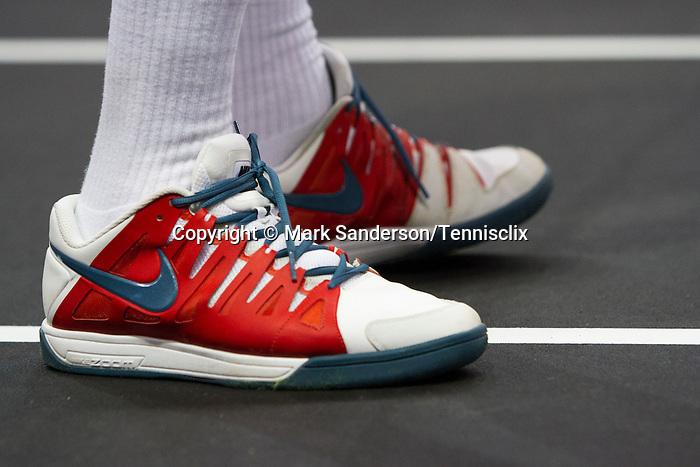 John McEnroe (USA) defeats Todd Martin (USA) 6-3,  at the PowerShares Champions Cup, in Boston, Massachusetts on April 22, 2015.