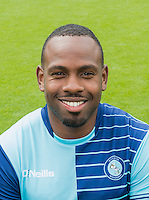 Myles Weston of Wycombe Wanderers during the Wycombe Wanderers 2016/17 Team & Individual Squad Photos at Adams Park, High Wycombe, England on 1 August 2016. Photo by Jeremy Nako.