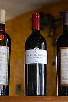 Bottle of Familia Deicas 1er premier Cru Garage Tannat 2000, their top premium cuvee. Bodega Juanico Familia Deicas Winery, Juanico, Canelones, Uruguay, South America