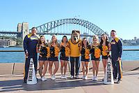 SYDNEY, AUSTRALIA - August 23, 2016:  Cal Bears Football team Australia trip.  Cal Cheerleaders and Oski