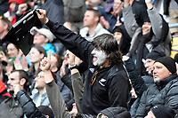 Fan celebrates after scoring a try during the Bledisloe Cup - New Zealand v Australia at Sky Stadium, Wellington, New Zealand on Sunday 11 October 2020. <br /> Photo by Masanori Udagawa. <br /> www.photowellington.photoshelter.com