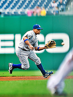 24 April 2010: Los Angeles Dodgers' infielder Rafael Furcal in action against the Washington Nationals at Nationals Park in Washington, DC. The Dodgers edged out the Nationals 4-3. Mandatory Credit: Ed Wolfstein Photo