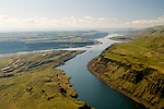 Scenic Aerial View of the Columbia River Gorge