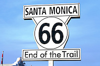Sign marking the western terminus of Route 66 on the Santa Monica Pier. On November 11, 2009, the Santa Monica Pier was designated as the official Western Terminus of Route 66 by the Route 66 Alliance, an organization that promotes and preserves the historic roadway between Chicago, Ill. and Santa Monica.