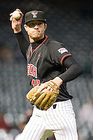 Texas Tech Red Raider pitcher Brett Bruening against Rice on Saturday March 6th, 2100 at the Astros College Classic in Houston's Minute Maid Park.  (Photo by Andrew Woolley / Four Seam Images)