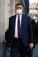 The Democratic Party senator Emanuele Fiano outside the Senate, where a trust vote is going on, due to the Government crisis.<br /> Rome(Italy), January 19th 2021<br /> Photo Samantha Zucchi/Insidefoto