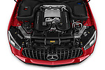 Car Stock 2021 Mercedes Benz GLC-Coupe AMG-GLC-63-S 5 Door SUV Engine  high angle detail view