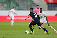 ST. GALLEN, SWITZERLAND - MAY 30: Sebastian Lletget #17 of the United States moves with the ball during a game between Switzerland and USMNT at Kybunpark on May 30, 2021 in St. Gallen, Switzerland.