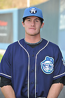 Tyler Massey #7 of the Asheville Tourists poses during media day at McCormick Field on April 4, 2011 in Asheville, North Carolina.  Photo by Tony Farlow / Four Seam Images..