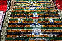 Escadaria Selaron, famous public steps by artist Jorge Selaron in Lapa, Rio de Janeiro, Brazil