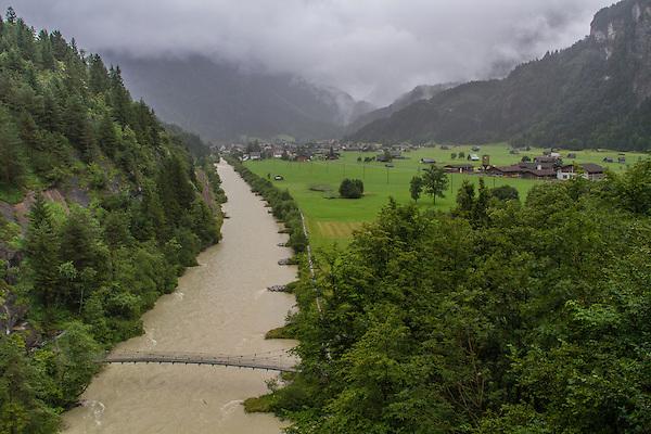 Rhone River near Martigney,  Switzerland.