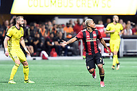 Atlanta, Georgia - Thursday, October 26, 2017. The Columbus Crew eliminated Atlanta United from the 2017 MLS Playoffs in penalty kicks in front of a league record postseason crowd of 67,221 at Mercedes Benz Stadium.
