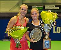 Rotterdam, Netherlands, December 20, 2015,  Topsport Centrum, Lotto NK Tennis, Final womans single Kiki Bertens (L) runner up and Richel Hogenkamp winner <br /> Photo: Tennisimages/Henk Koster
