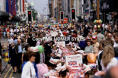 Silver Jubilee celebrations, London 1977.Uk Oxford street London