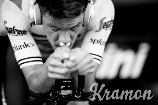 Jasper Stuyven (BEL/Trek-Segafredo) warming up for the TTT<br /> <br /> Stage 2 (TTT): Brussels to Brussels(BEL/28km) <br /> 106th Tour de France 2019 (2.UWT)<br /> <br /> ©kramon