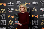 Susi Sanchez (best actress award for her role in 'La enfermedad del Domingo') attends to 33rd Goya Awards at Fibes - Conference and Exhibition  in Seville, Spain. February 03, 2019. (ALTERPHOTOS/A. Perez Meca)